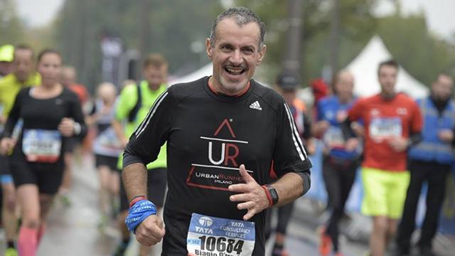 Biagio D'Angelo alla maratona di Amsterdam