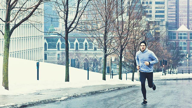 runner in inverno